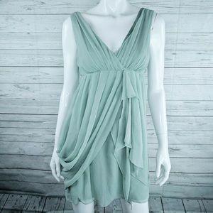 Alice + Olivia Silk Blend Drape Dress